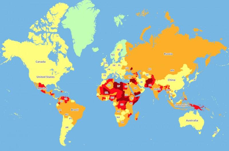 Опасные и небезопасные страны