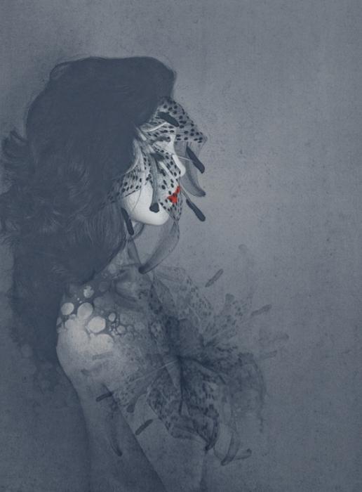 Лилия. Автор работ: фото-иллюстратор Лесли Энн О'Делл (Leslie Ann O'Dell).