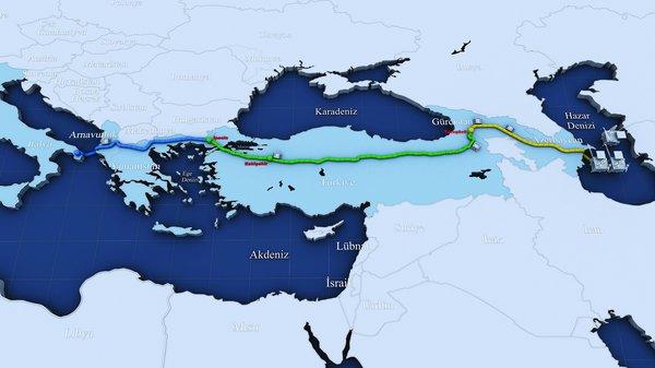 газопровод TANAP, фото с сайта insaatnoktasi.com