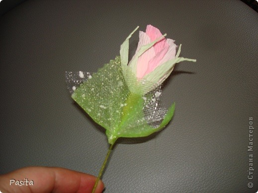 Свитдизайн роза из гофробумаги мастер класс