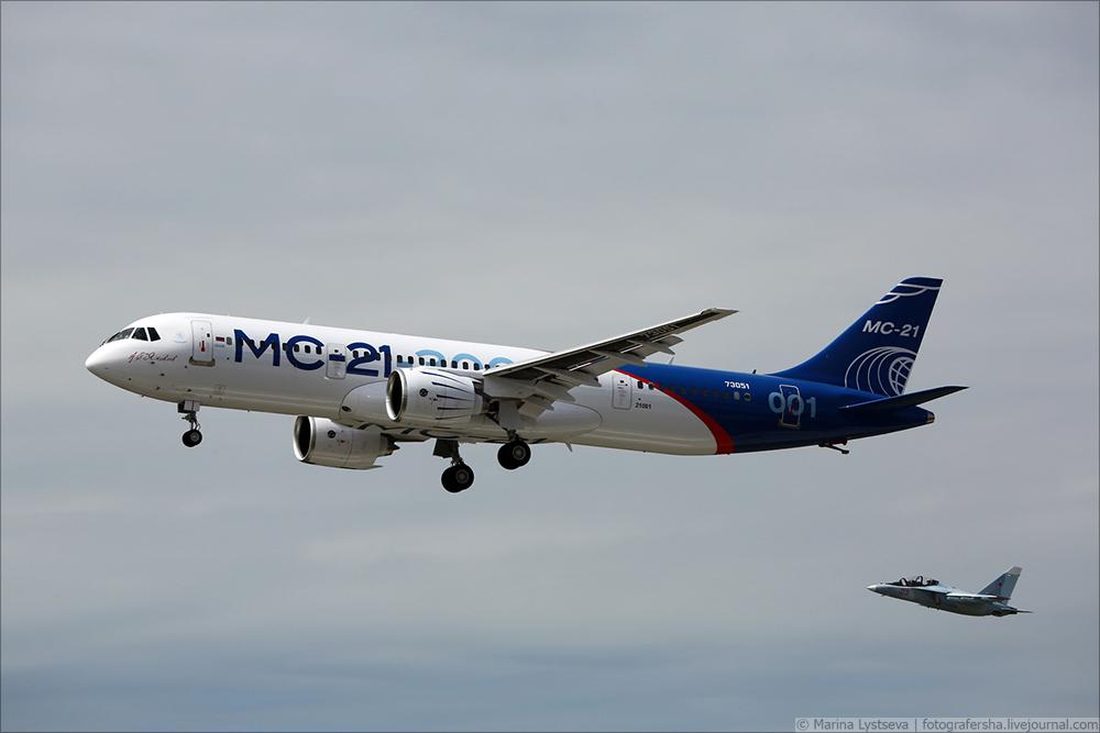Фоторепортаж о первом полёте МС-21