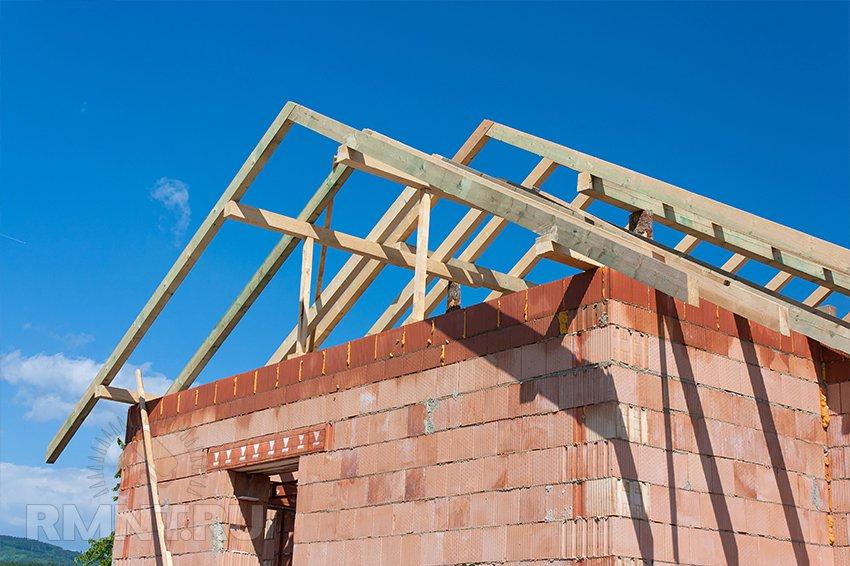 Установка стропил двухскатной крыши своими руками фото