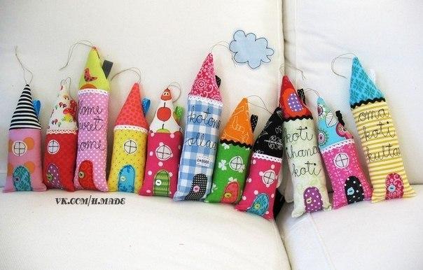 Идеи для вашего творчества Текстильные домики