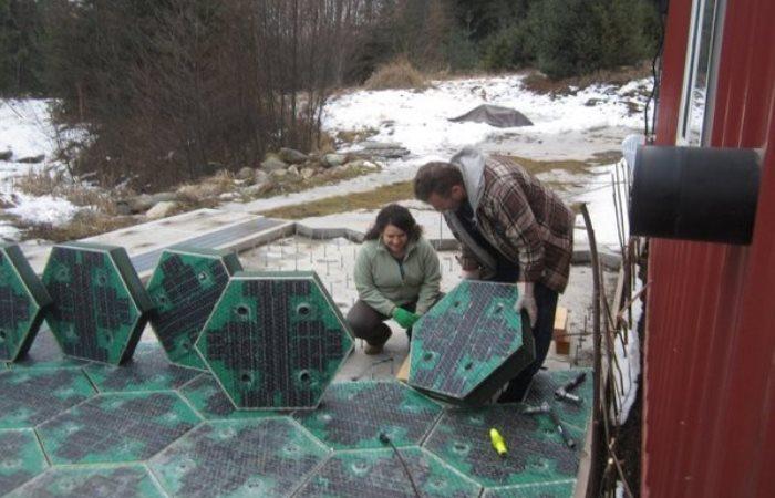 Дорожное полотно с солнечными батареями и подсветкой само будет вырабатывать электричество очищать дороги зимой