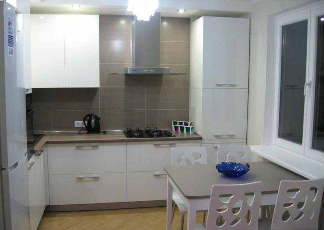 Дизайн угловой кухни 9 кв м в квартире фото