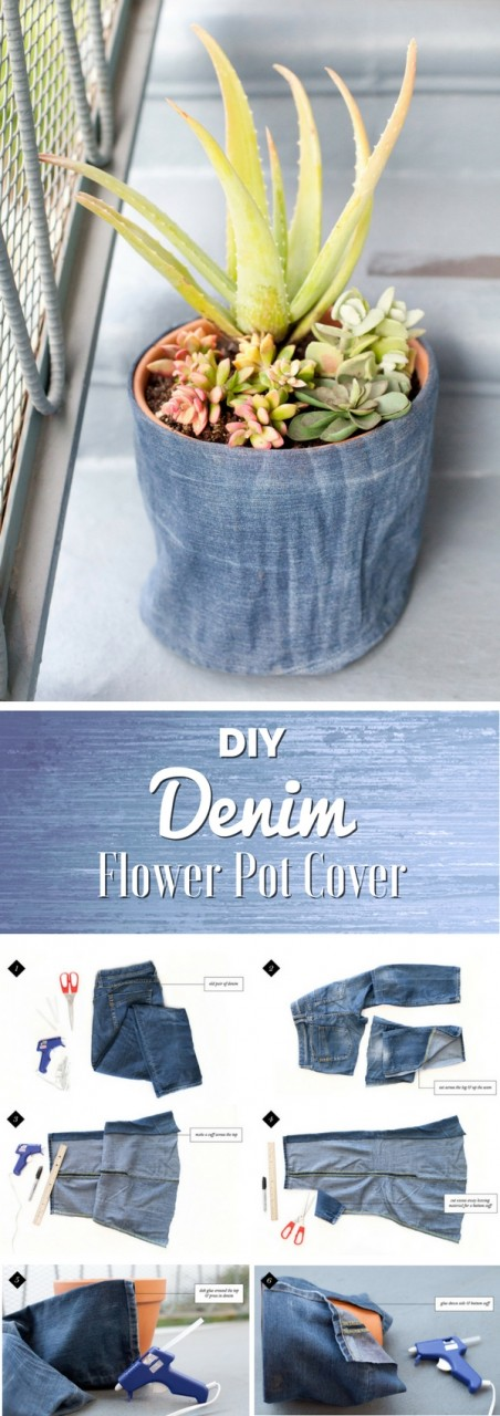 Удивительные способы использования старых джинсов для домашнего декора
