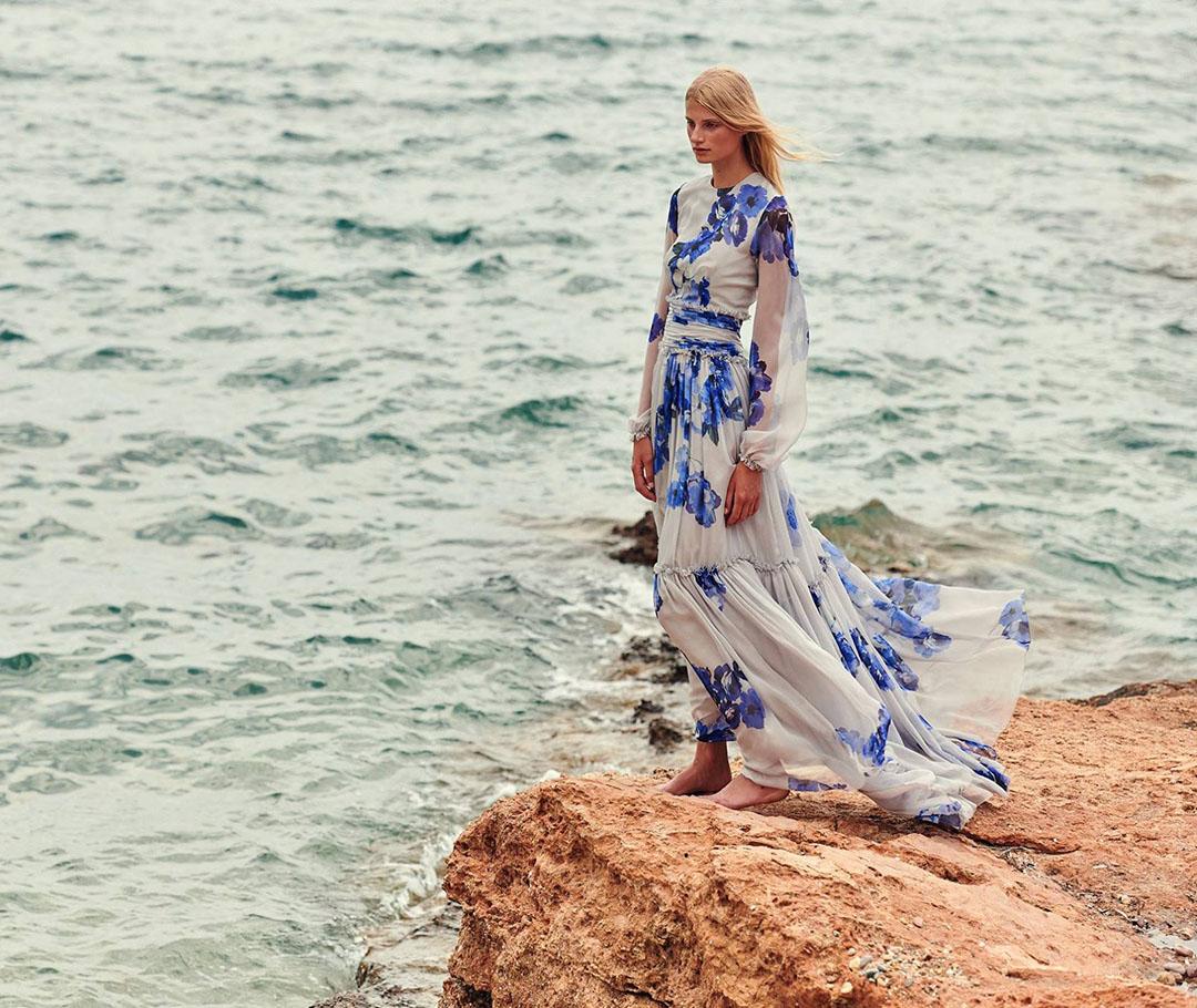 Изящные платья в круизной коллекции Christos Costarellos 2019