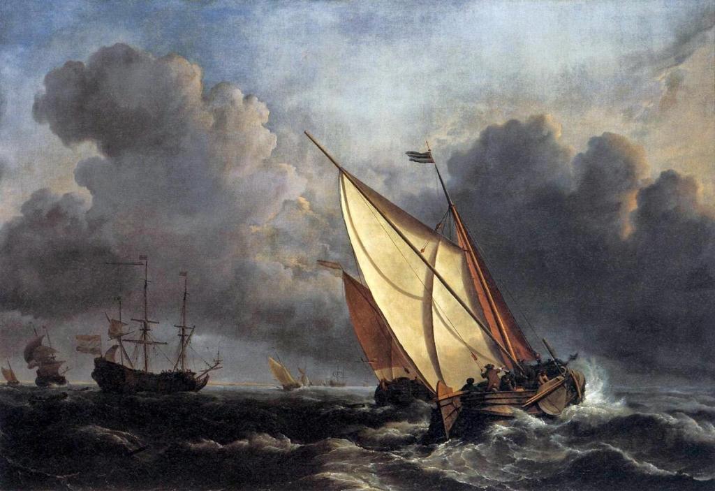 Уильям Тернер «Голландские рыболовные лодки во время шторма»
