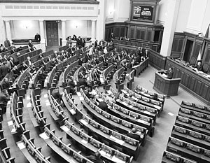 Новая Рада раскололась на сторонников ЕС и США