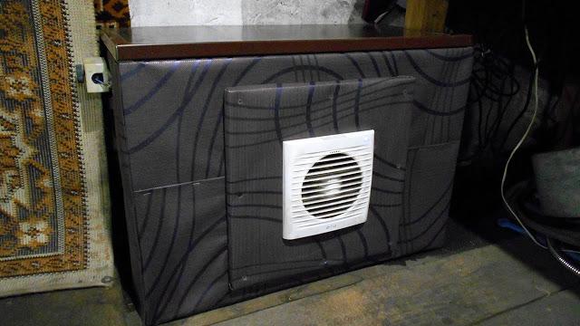 Отопление гаража ● Тепловентилятор из автомобильного радиатора