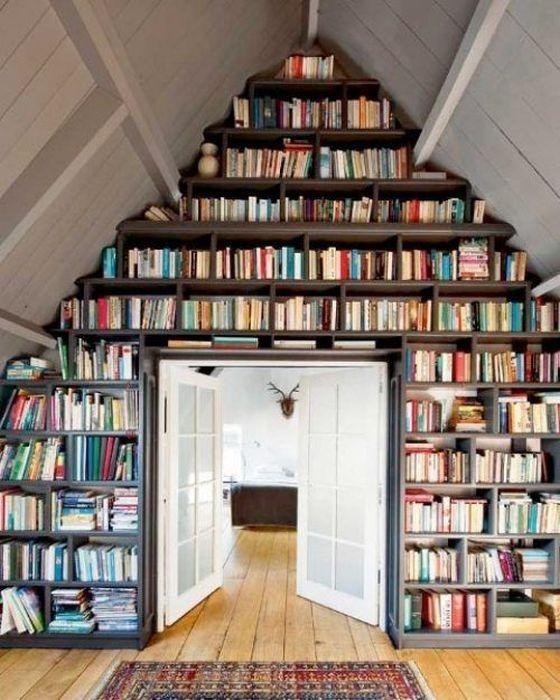 Чердак – дом для книг.