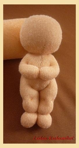 ...куколка готова. Вид спереди.