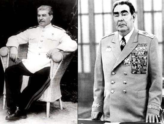 Сталин и Брежнев