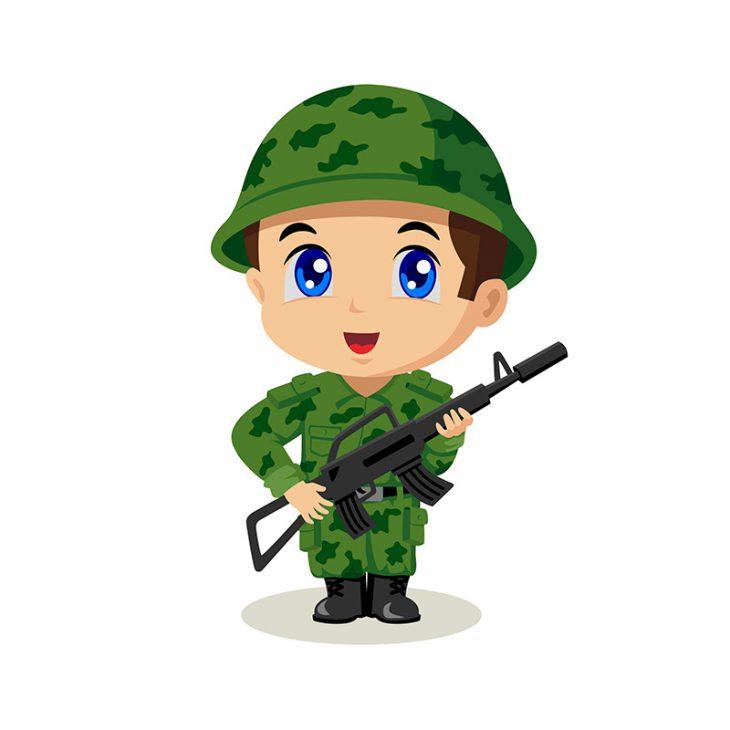 Поздний вечер. На посту возле КПП стоит молоденький солдат...