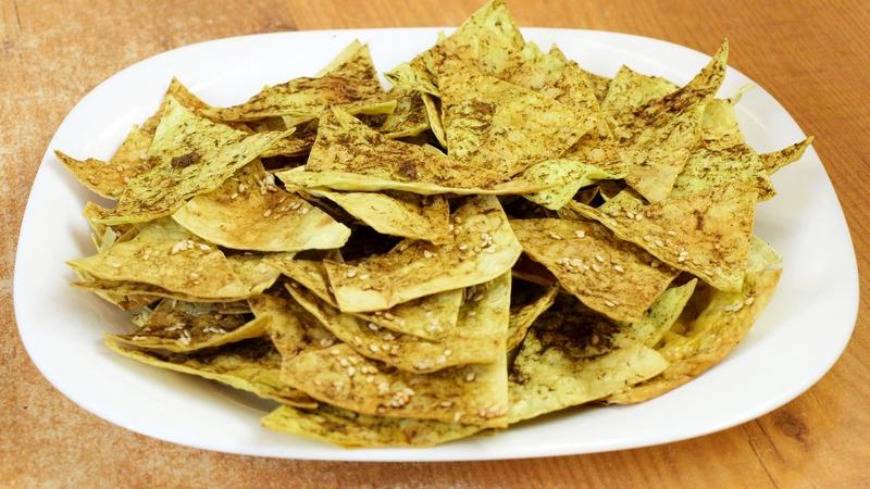 Домашние чипсы из лаваша - видео рецепт