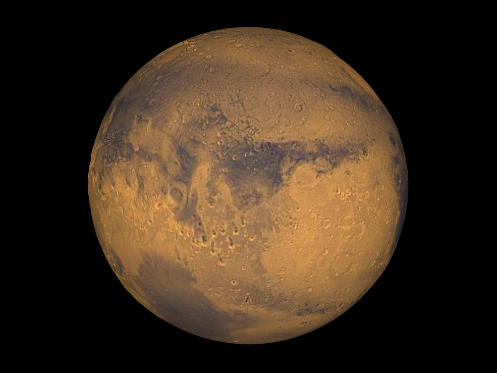 Как Марс выглядит зимой