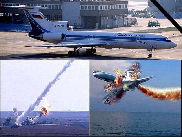 Вспоминаем трагедию Ту-154 над Черным морем в 2001 г.