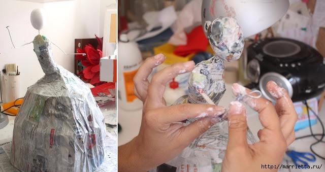 Как сделать из папье маше с фото 868