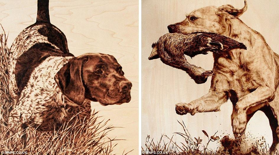 Julie Bender 44 Потрясающие картины, выжженные на кленовых дощечках