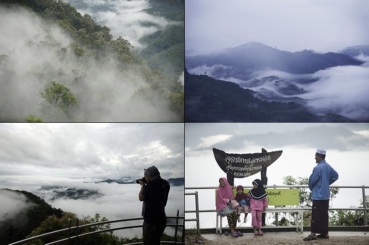 Со смотровой площадки по утрам открывается буквально вид на море тумана, покрывающего горы внизу