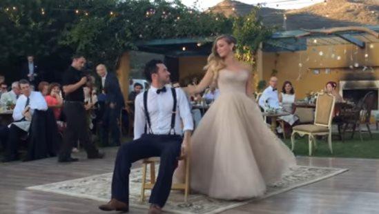 Необыкновенный свадебный тан…