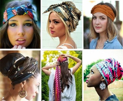 Лето: модные варианты, как носить платок