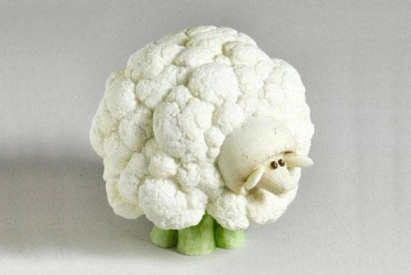 Поделки из овощей барашки