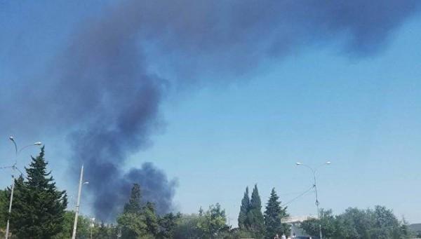 В Крыму горит многоэтажный дом!