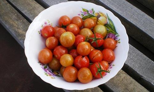 И эти помидоры лопнули