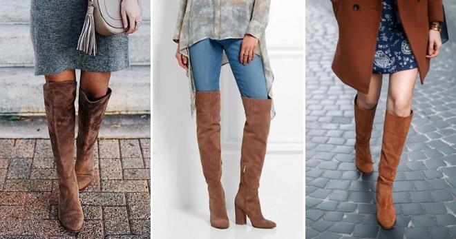 С чем носить коричневые сапоги – идеи лучших образов и сочетаний для любой погоды