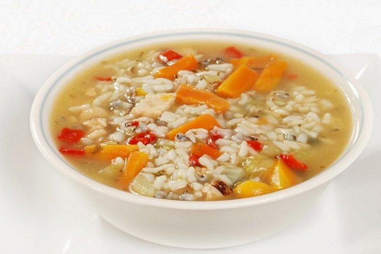 Рисовый суп с зажаркой