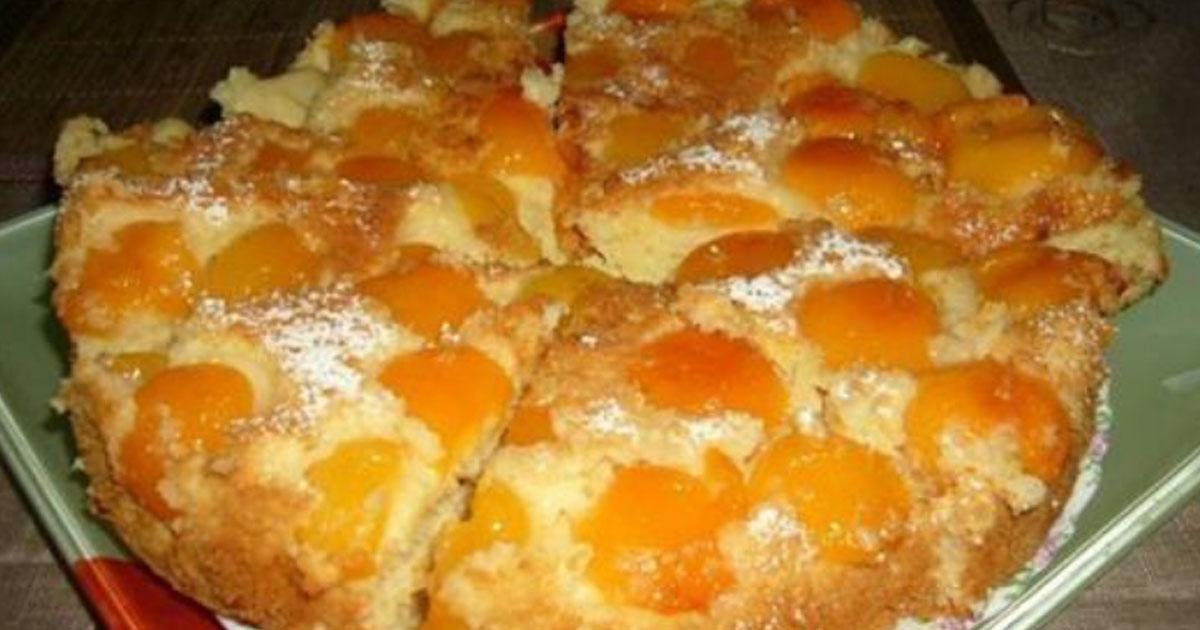 Нежный абрикосовый пирог.