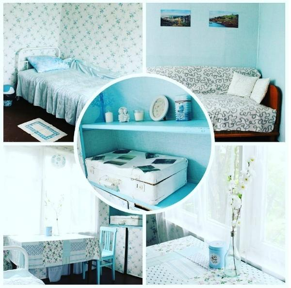 голубая спальная