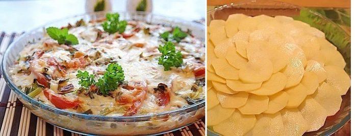 Картофельная пиццас мясом и овощами. Оригинальный ужин!