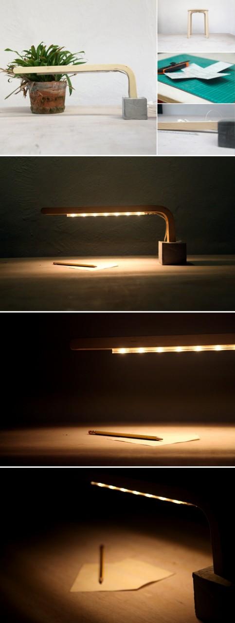 Лампа из стула IKEA