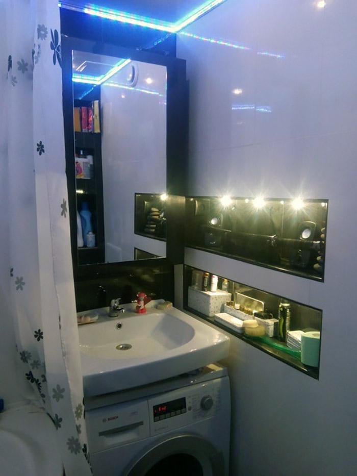 Фото ремонта ванной комнаты хрущевки своими руками 553