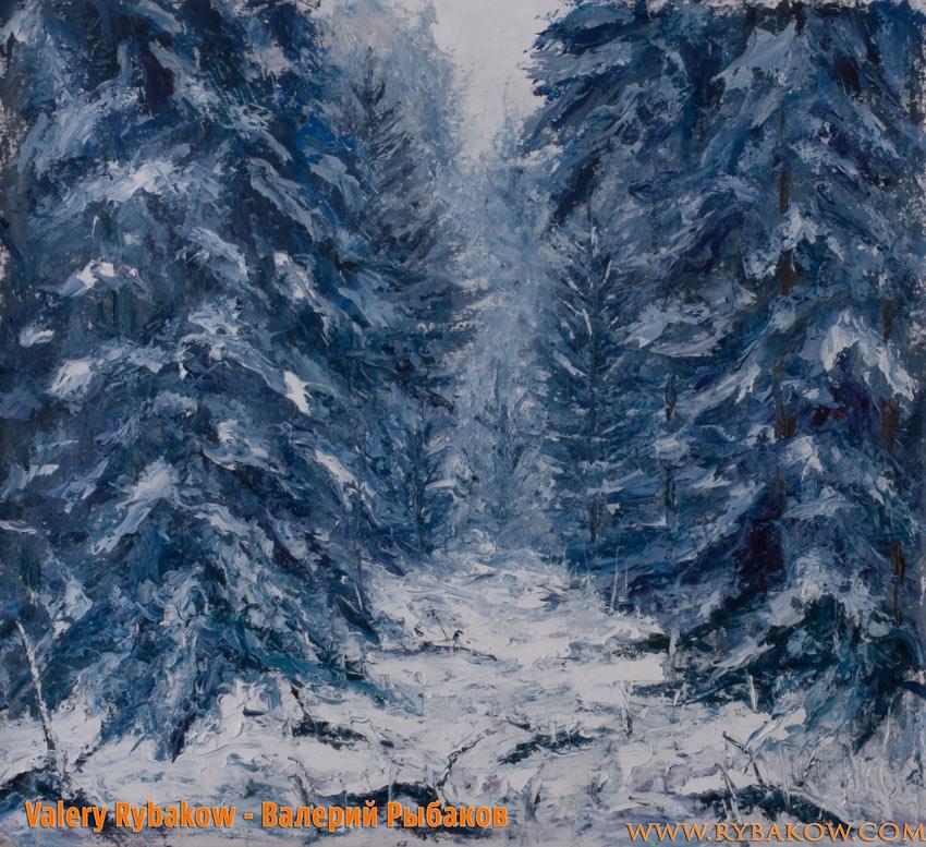 Зимний пейзаж - Прогулка в зимнем лесу.