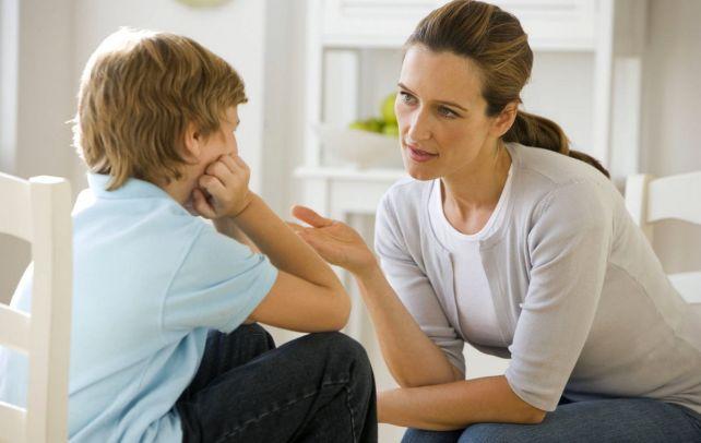серьезный разговор с ребенком