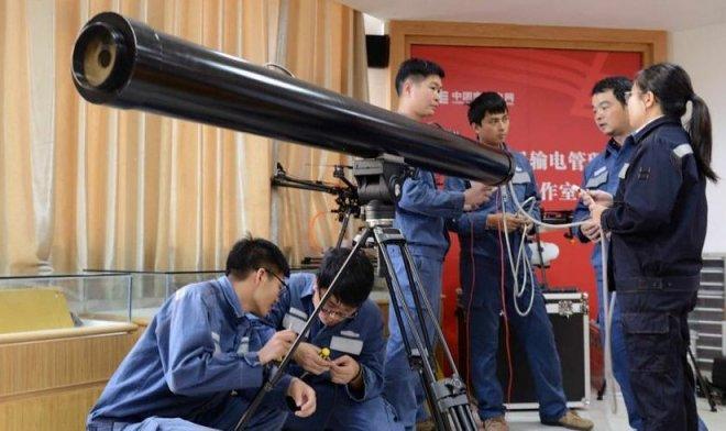В Китае учатся убирать мусор с ЛЭП страшной лазерной пушкой