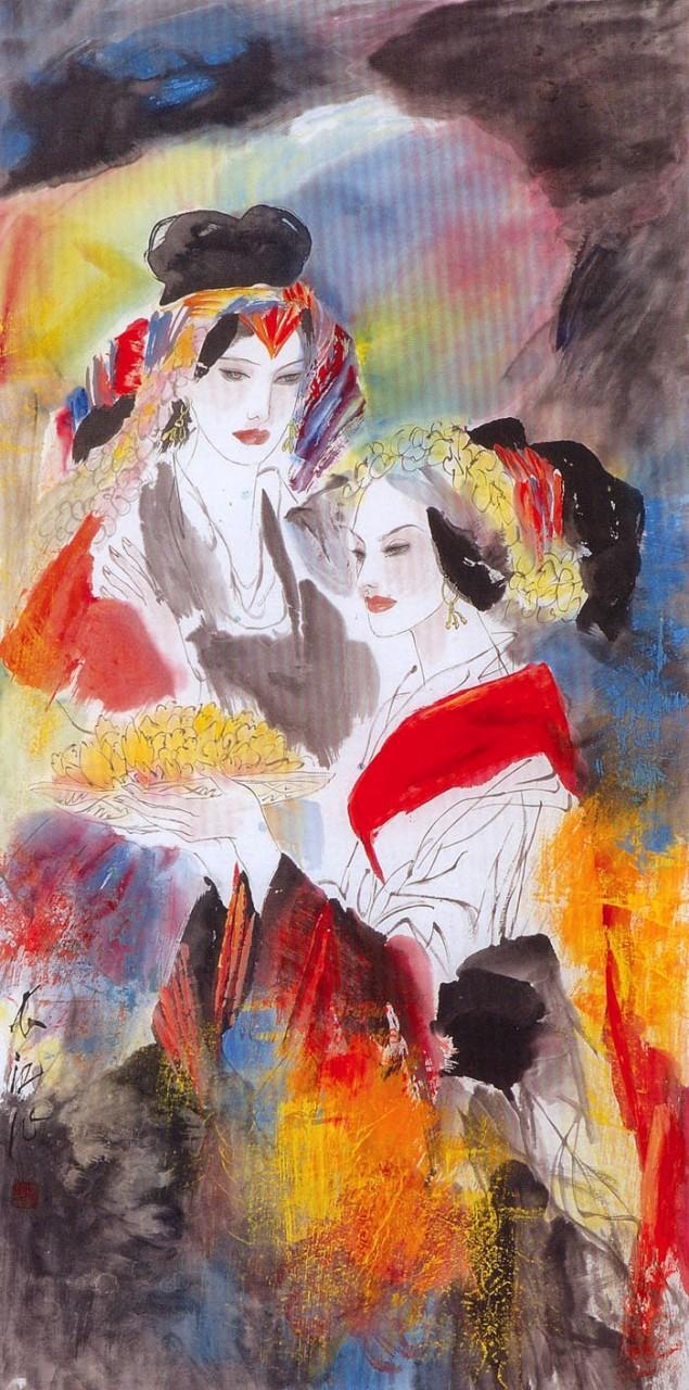 Любимица Поднебесной... Китайский художник Feng Chiang-Jiang