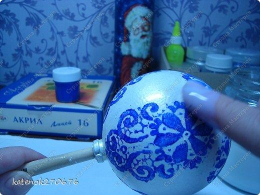 Мастер-класс Новый год Моделирование конструирование Новогодние шарики МК фото 11