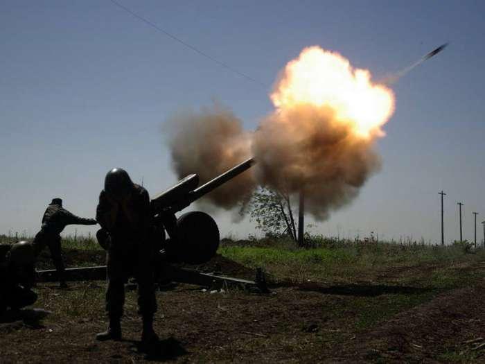 Артиллерийская дуэль армии ДНР и ВСУ Украины от первого лица