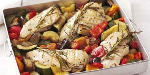 Баклажаны в духовке. Запечённые баклажаны с курицей и овощами