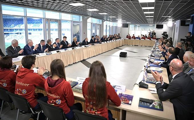 Совместное заседание Совета по развитию физической культуры и спорта и Наблюдательного совета Оргкомитета «Россия-2018»