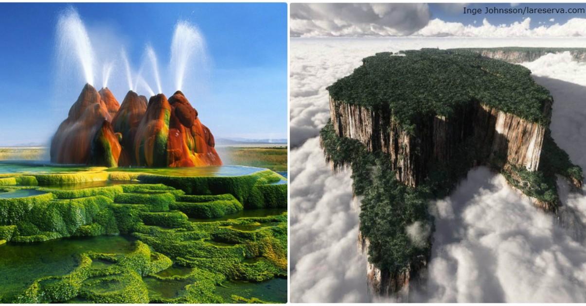 20 невероятных мест, которые выглядят так, будто они - на другой планете