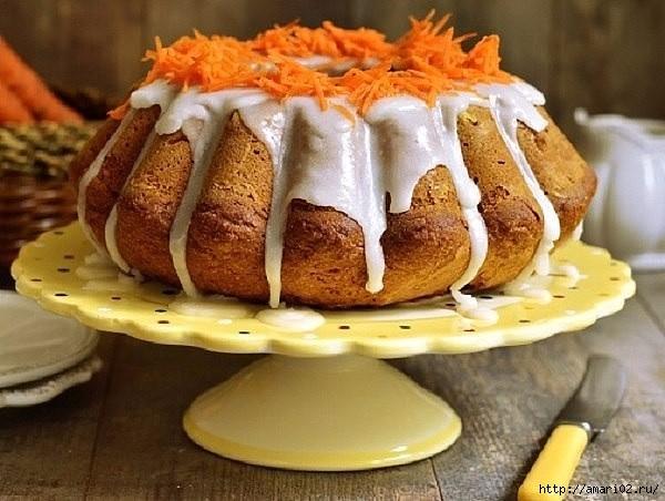 Кекс из моркови с орехами