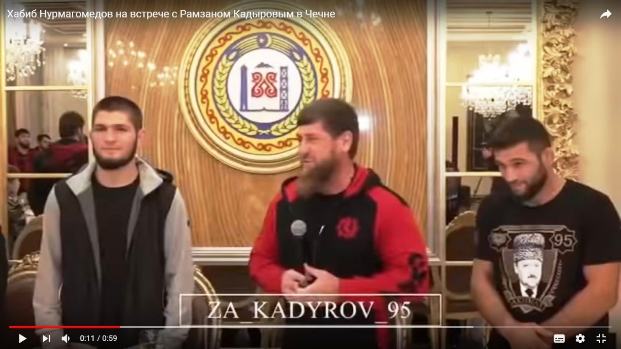 Хабиб Нурмагомедов приехал в гости к Рамзану Кадырову и стал почетным гражданином Грозного