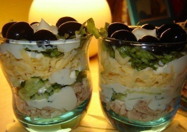 Обалденный воздушный салат с курицей: Изюминка праздничного стола!