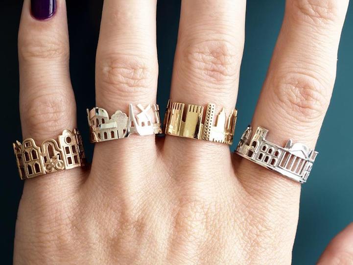 Филигранная работа талантливого ювелира: кольца напоминающие города