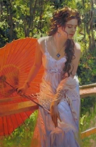 Женская красота в живописи Richard S. Johnson